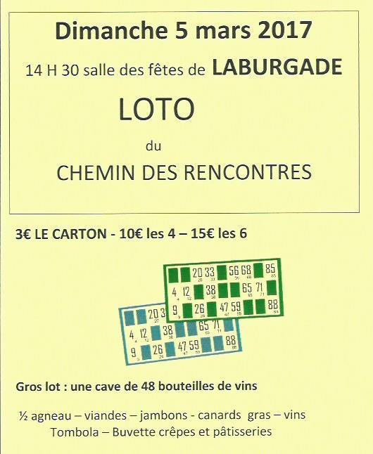 Loto laburgade chemin des rencontres 2017