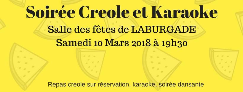 Soiree creole karaoke laburgade